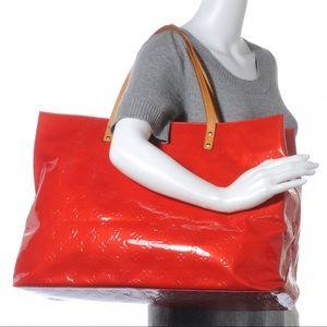 Authentic Louis Vuitton red vernis x large shopper